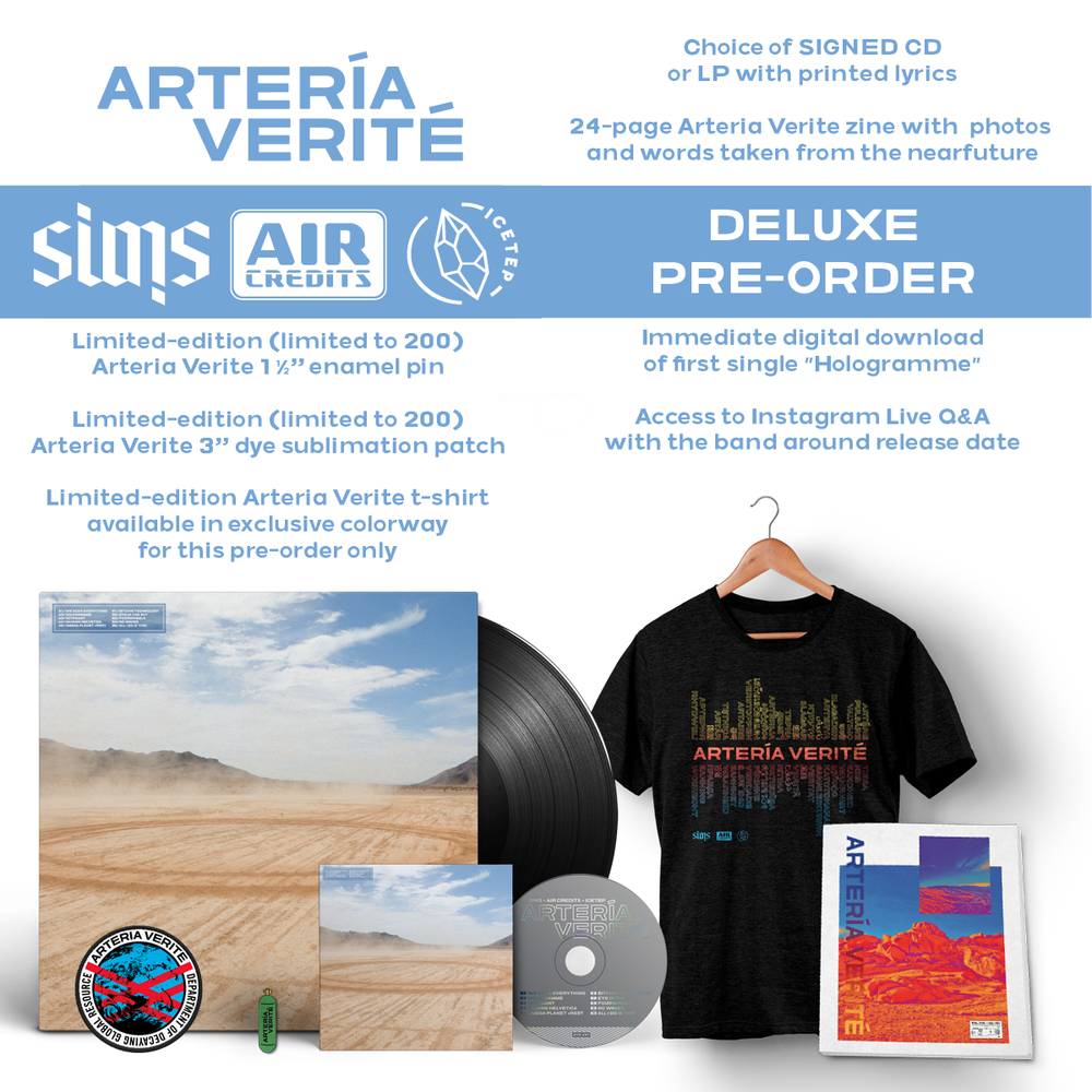 Image of Arteria Verite - Sims x Air Credits x ICETEP (DELUXE LP PRE-ORDER)