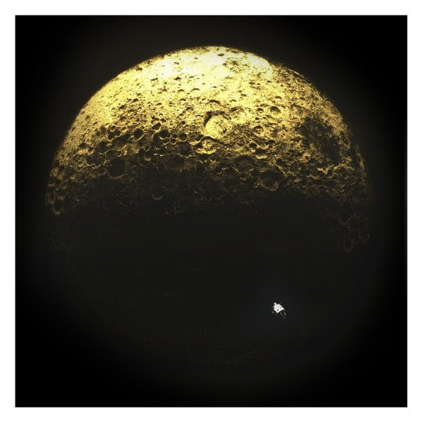 Image of Dark Side Of The Moon - Gold & Silver Leaf