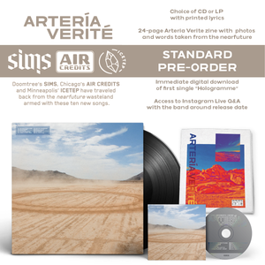 Image of Arteria Verite - Sims x Air Credits x ICETEP (STANDARD CD)