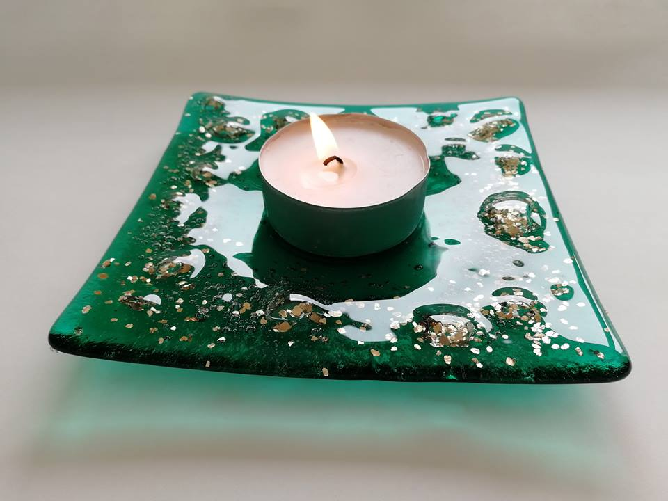 Image of Adventurine Candle Holder