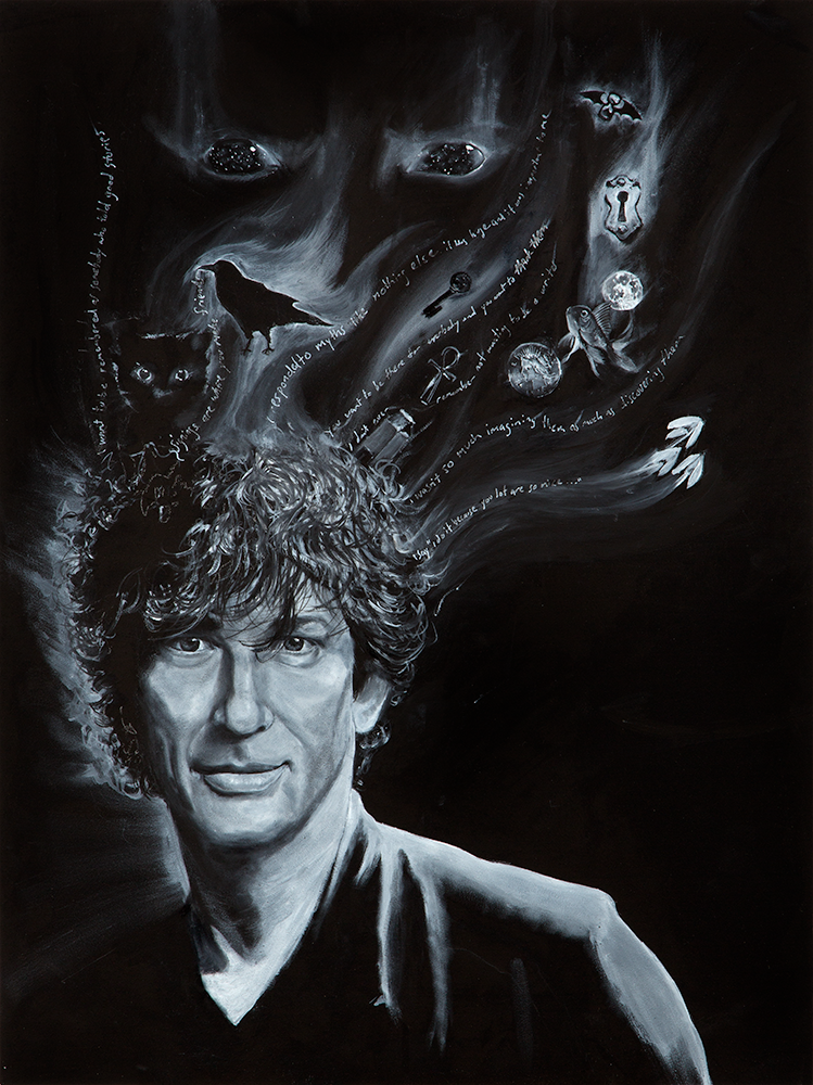 Image of Neil Gaiman Movie Poster Print