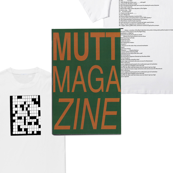 Image of MUTT MAGAZINE VOL 1 + CROSSWORD TEE