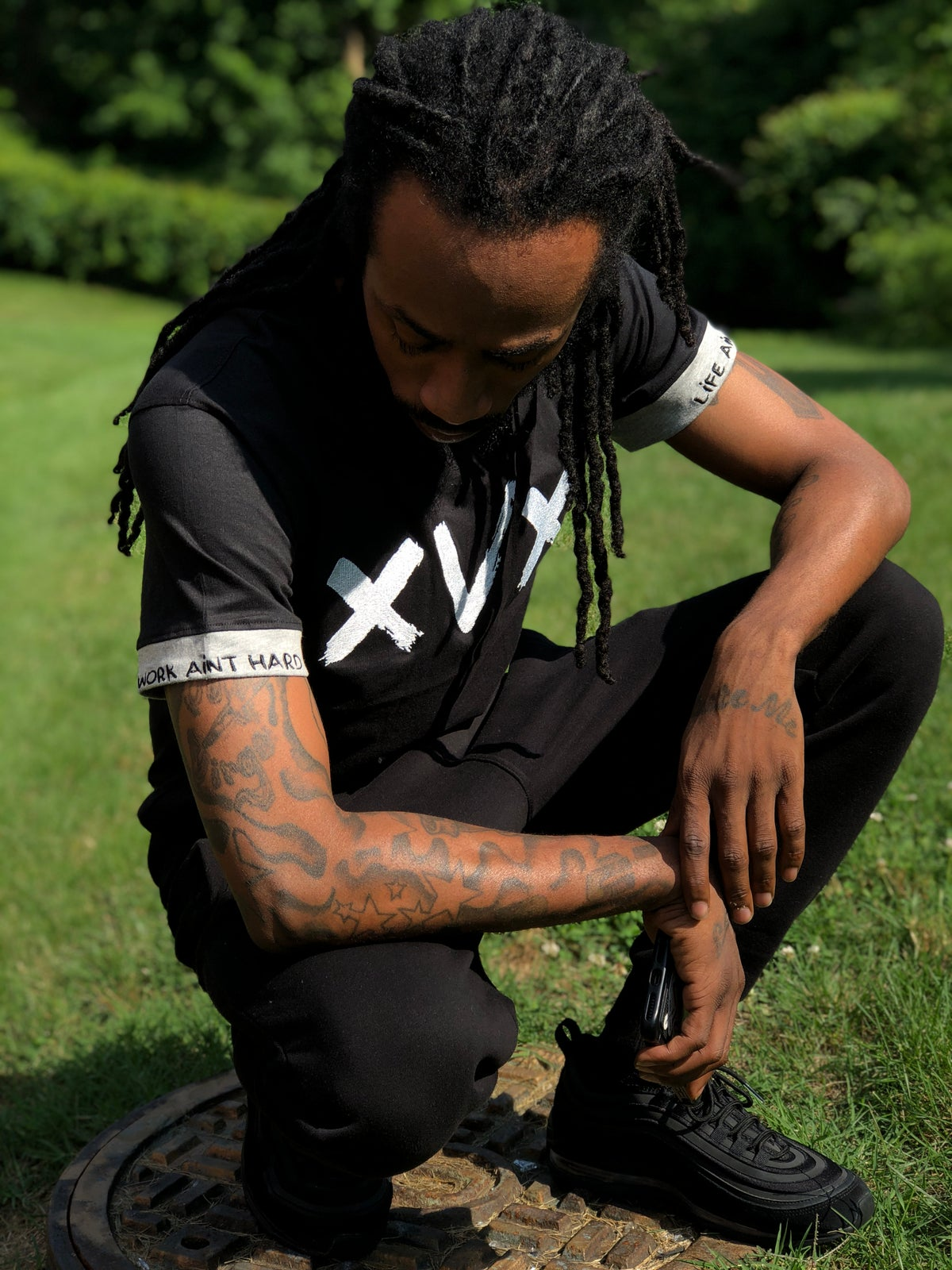 Image of XVX Embroidered Black & Grey