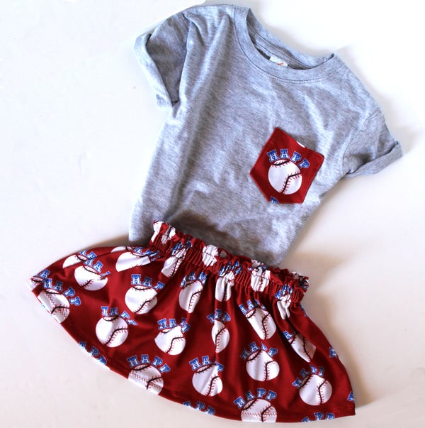 Image of Pocket Shirt and Skirt Custom Baseball