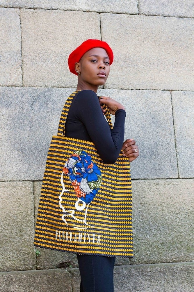 Image of  Tote Bag XXL Turbanista Yellow 30% Off