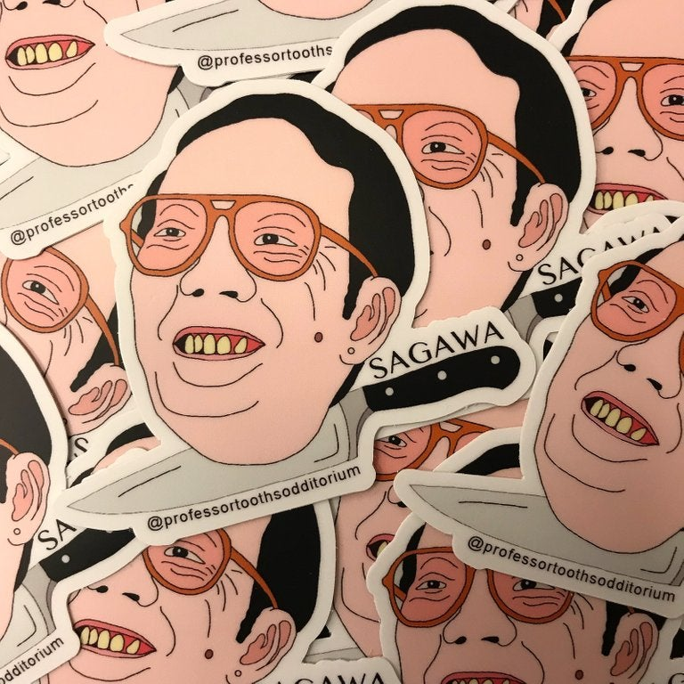 Image of Die Cut Issei Sagawa Vinyl Sticker