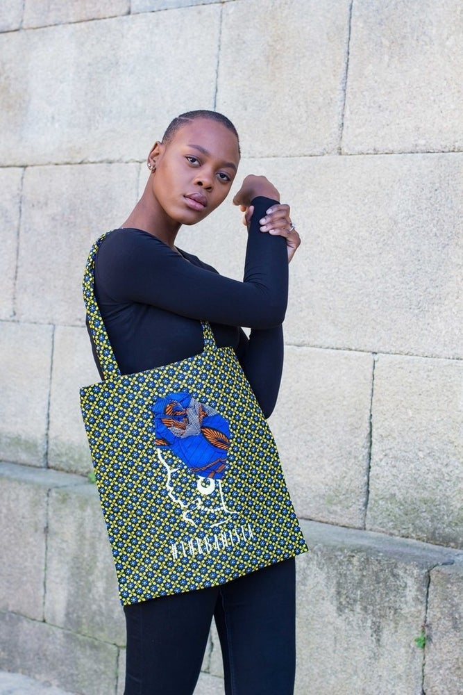 Image of Tote bag Turbanista Blue 20% Off