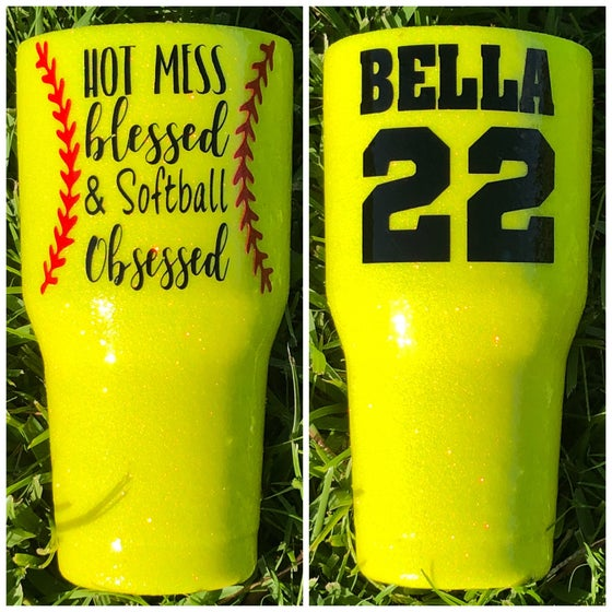 Image of Custom Softball or Baseball Tumbler