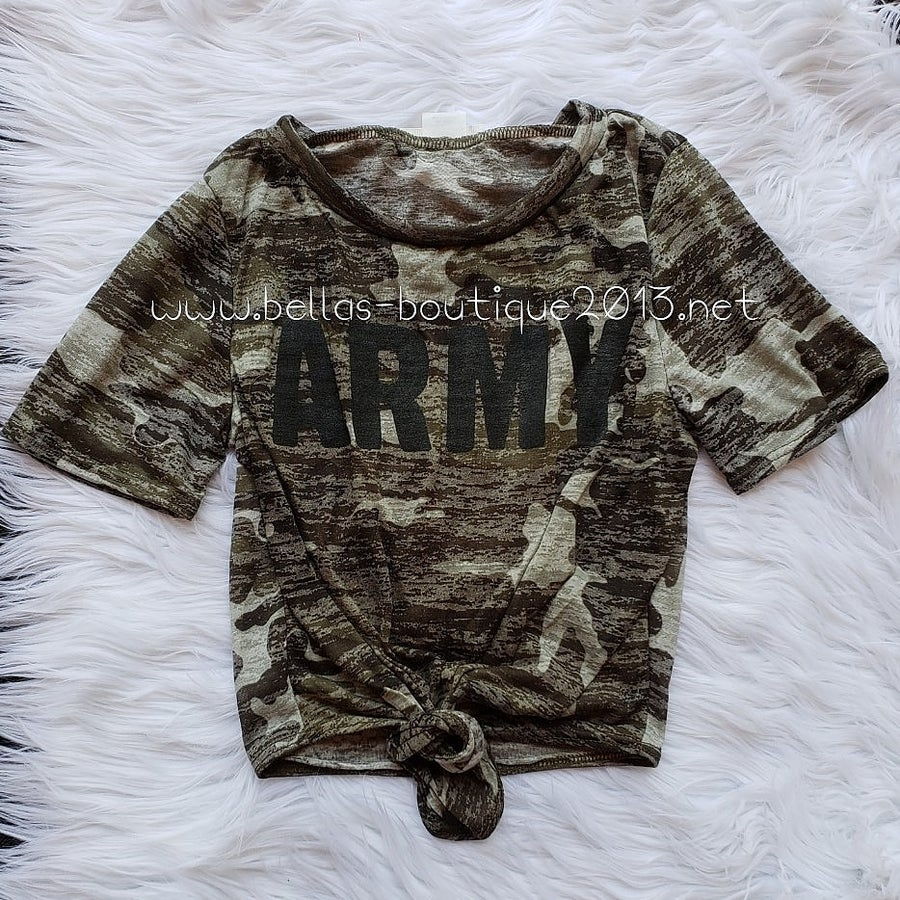 Image of Army Crop Top