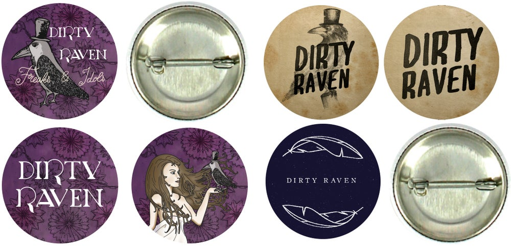 Image of Badge Dirty Raven