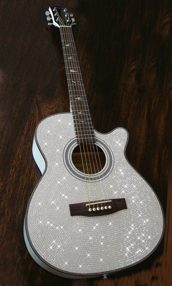 Image of Acoustic Guitar Made with Crystals by Swarovski®