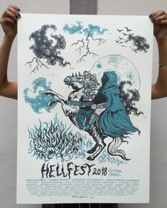 Image of HELLFEST 2018 screenprinted poster