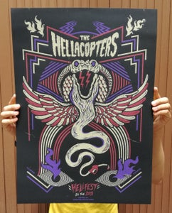 Image of THE HELLACOPTERS (Hellfest 2018) screenprinted poster