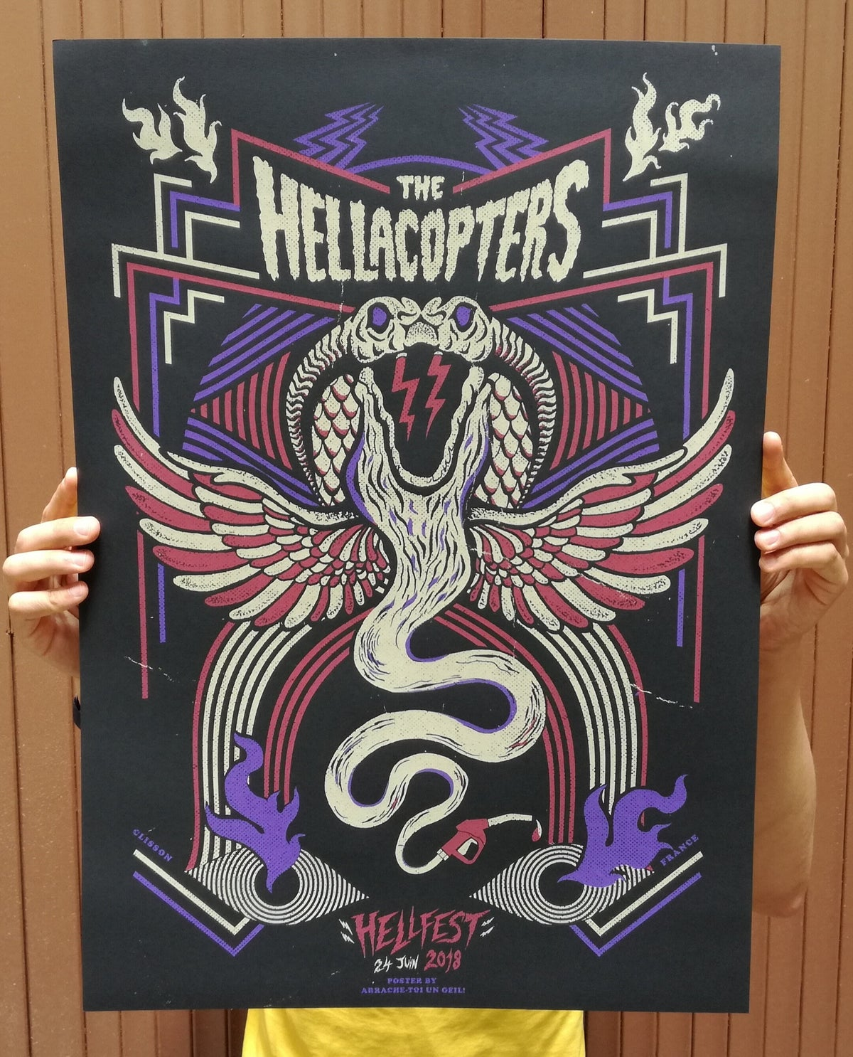 THE HELLACOPTERS (Hellfest 2018) screenprinted poster