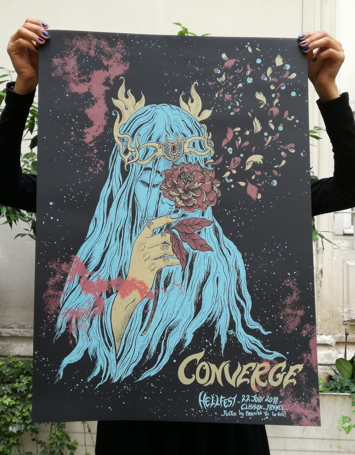 CONVERGE (Hellfest 2018) screenprinted poster
