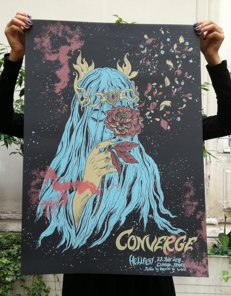 Image of CONVERGE (Hellfest 2018) screenprinted poster