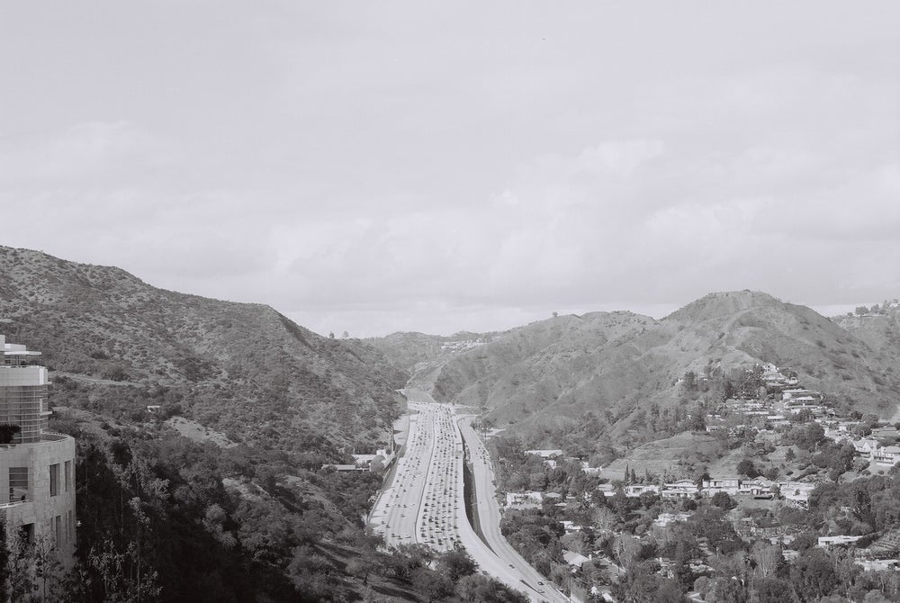 Image of Los Angeles (Getty Center) 35mm A4 Print - Highway