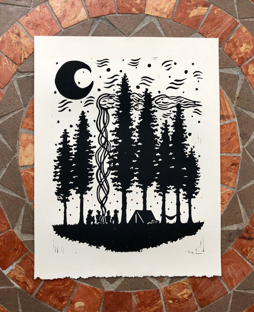 """Image of """"...Under the Same Moon and Stars"""" print"""