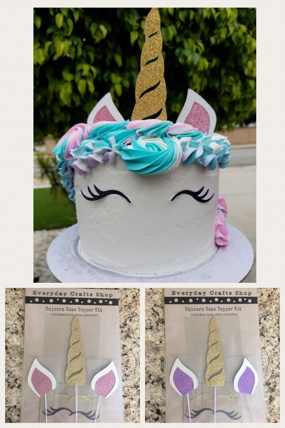 Image of Unicorn Cake Topper Kit