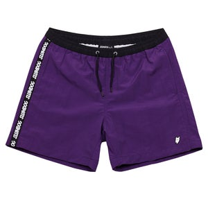 Image of SWIM TRUNKS <br> PURPLE BLACK
