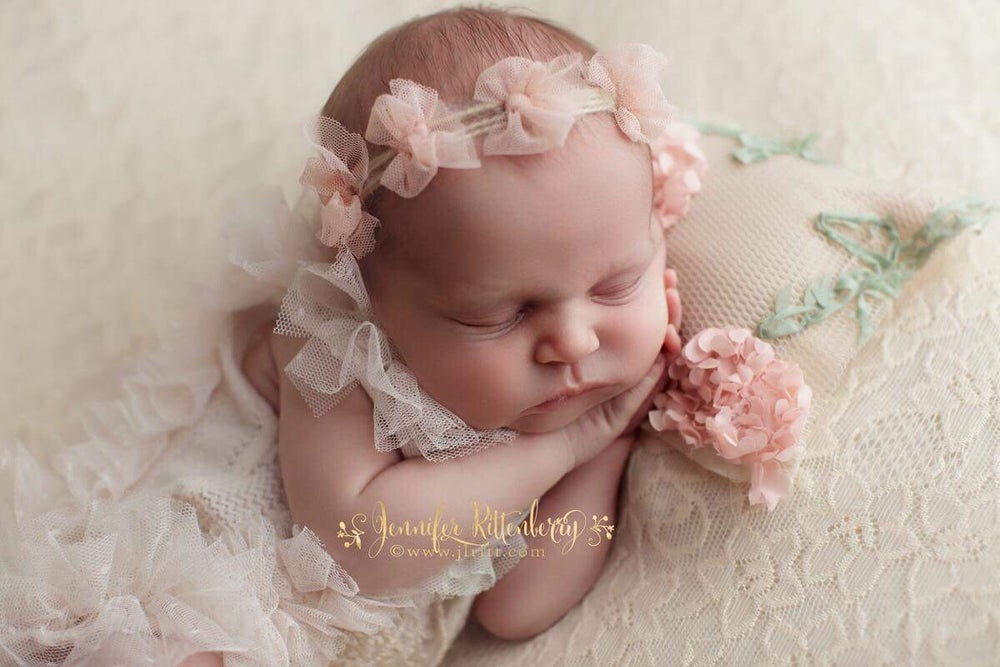 Image of Tulle bows headband (blush)