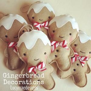 Image of Felt Christmas Decorations