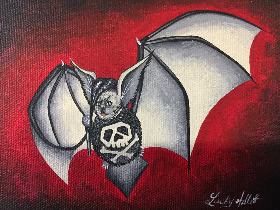 Image of Danzig Bat 8x10 Signed Print