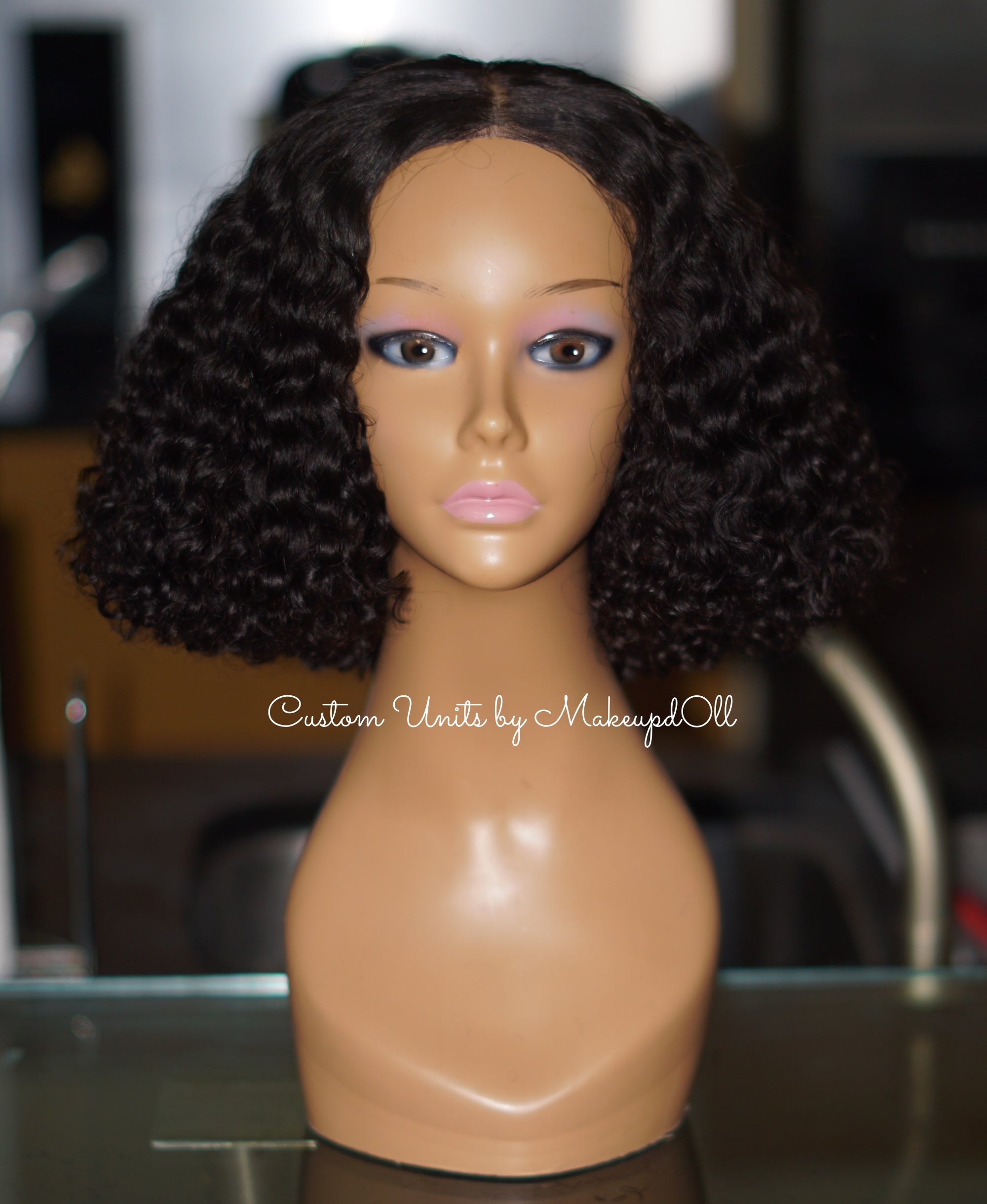 Image of Brazilian Curly Tapered Bob!