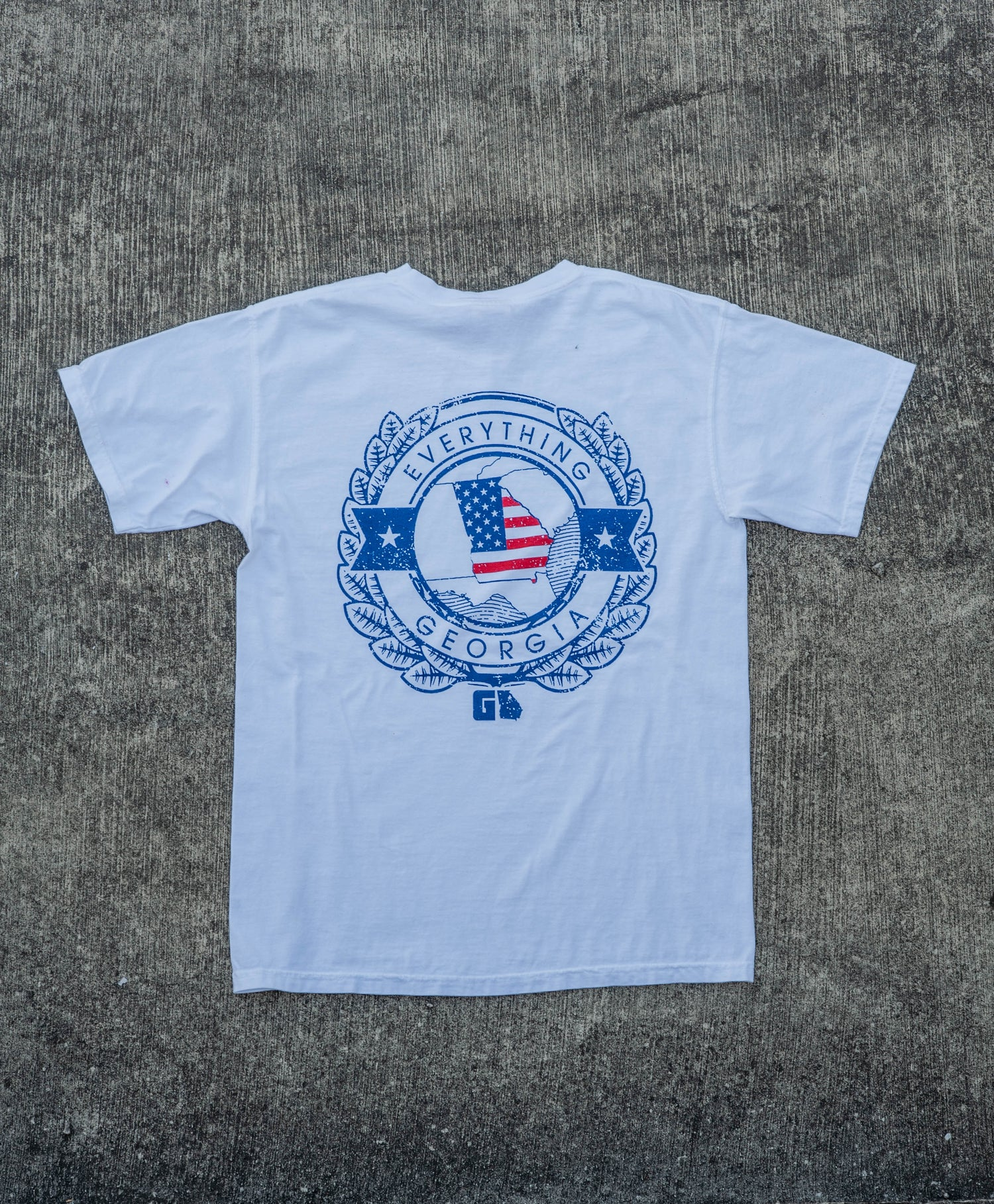 "Image of EVERYTHING GEORGIA ""STAMP"" TEE (USA EDITION)"