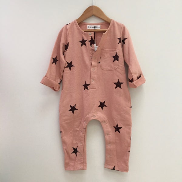 Image of All in the stars Onesie -Deep Dusty Pink