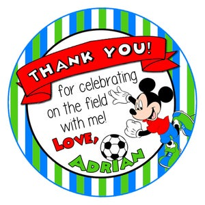 Image of Soccer Mickey Birthday Chalkboard & Stickers