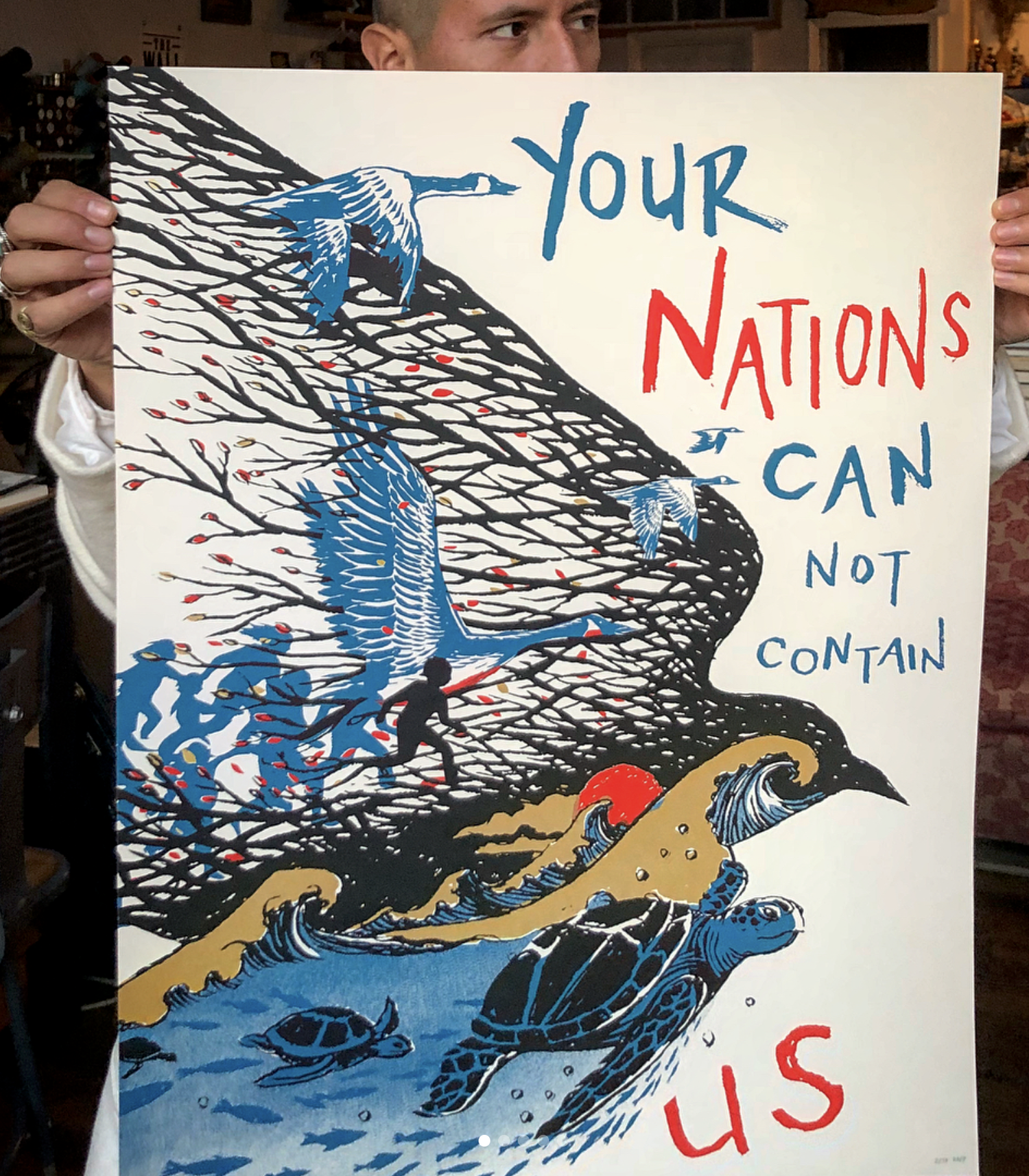 Image of Nations Screenprint (for Colibri center for the human rights)