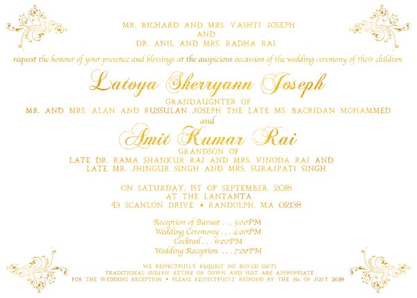 Image of Gold & White Wedding Package