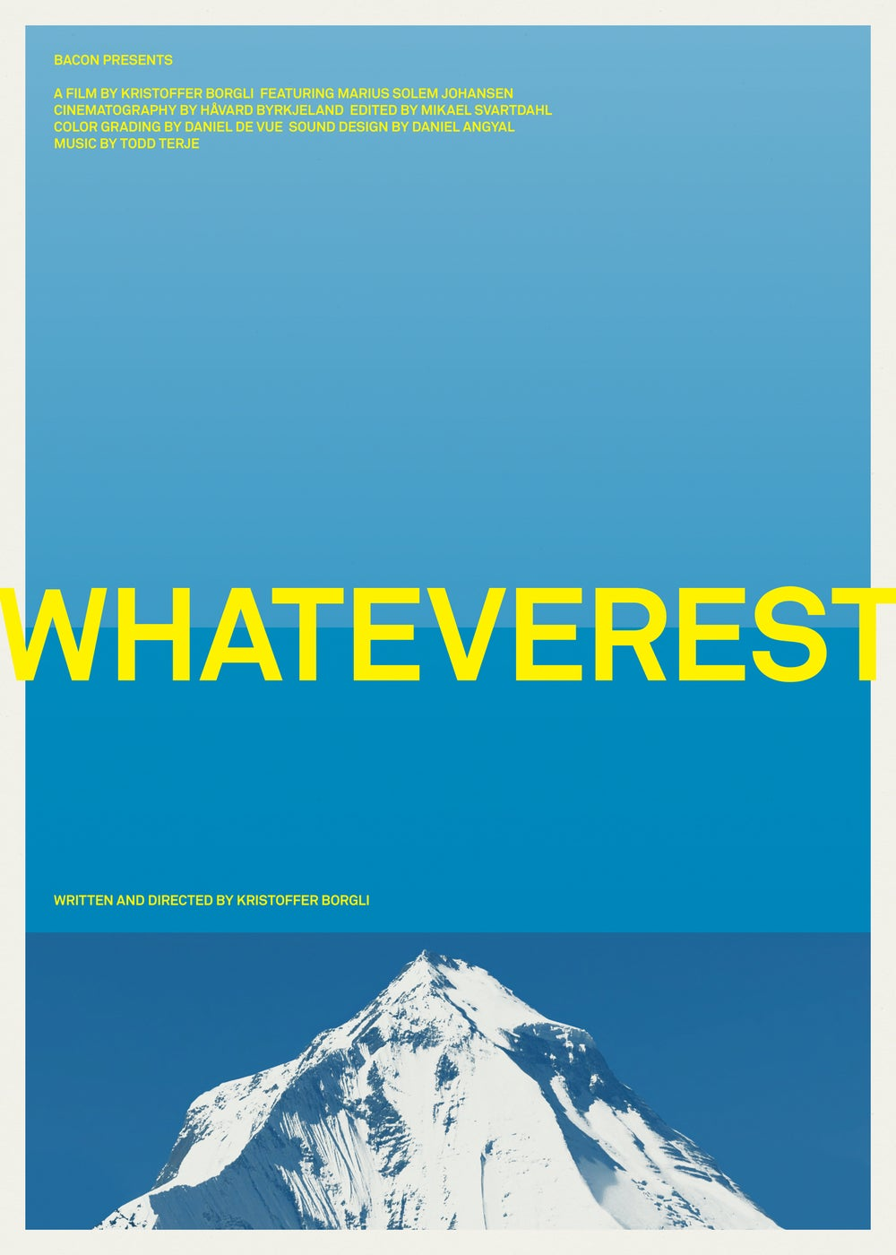 "Image of ""Whateverest"" movie poster — 100x70 cm / 39,5x27,5 inches"