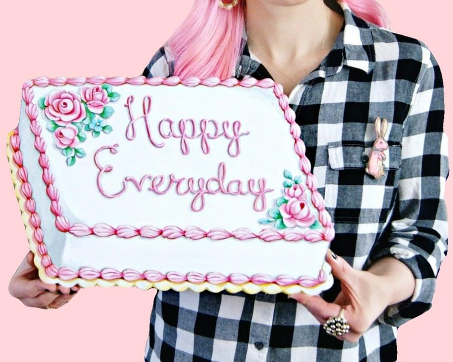 Image of Happy Everyday cake plaque
