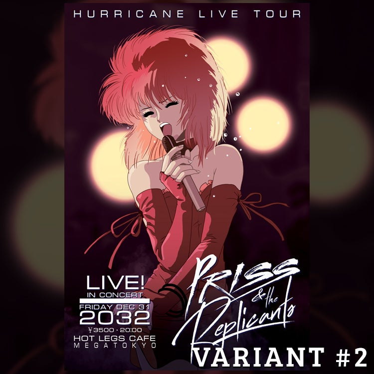 Image of Priss & the Replicants Tour Poster - Variant #2