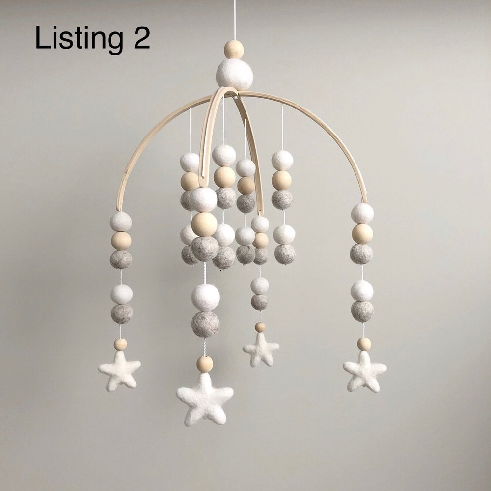 Image of Mobiles - felt stars (Ready to Post)