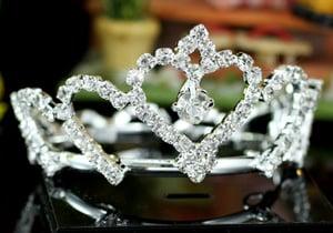 Image of IP.1340 Crystal Baby/Toddler Full Circle Round Mini Crown