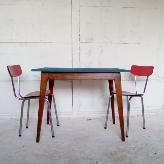 Image of Table de cuisine peinte - 70'