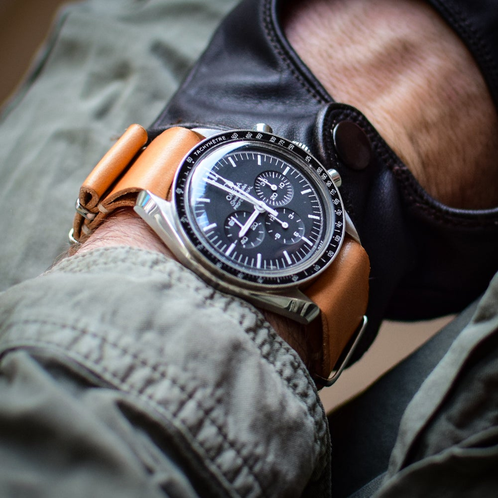 Image of Rugged Leather NATO strap
