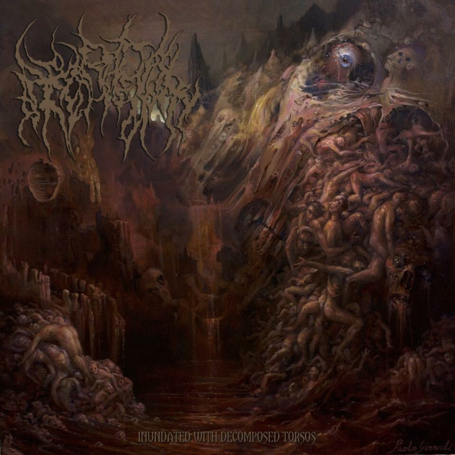 "Image of Official Heteradelphy Debut album ""Inundated With Decomposed Torsos"" released by Swallow Vomit!"