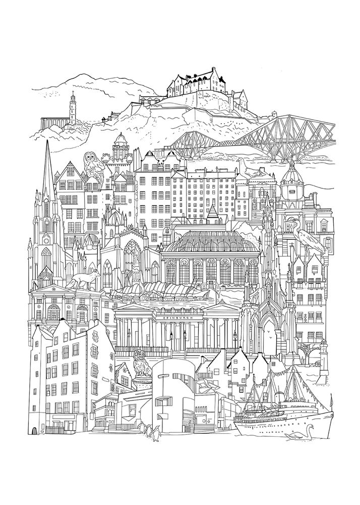 Image of Edinburgh Drawing Screen print