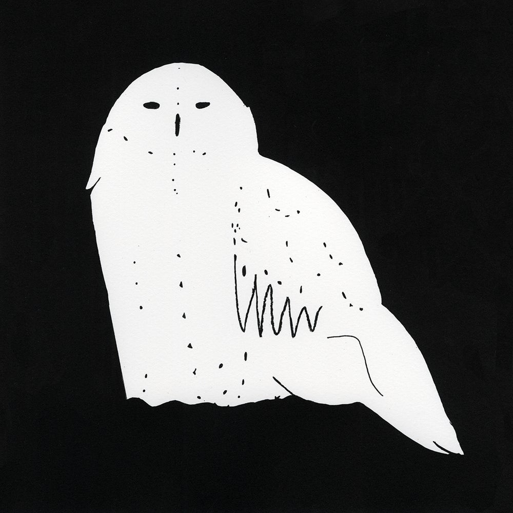 Image of Snowy Owl screen print