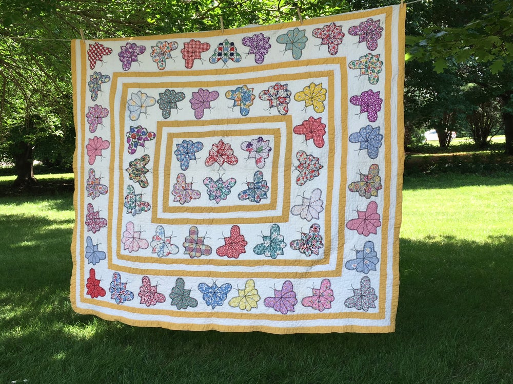 Image of Vintage Butterfly Quilt
