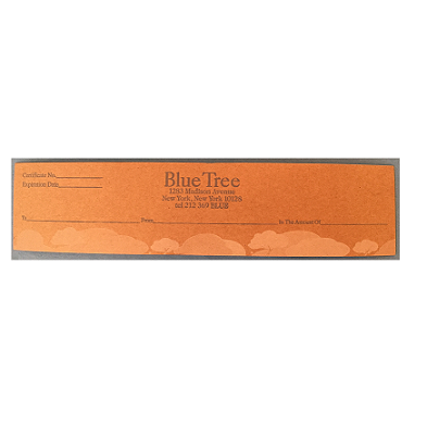 Image of Blue Tree Gift Certificate (multiple amounts)