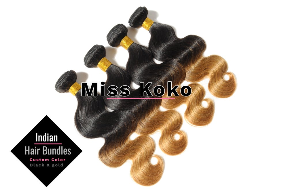 "Image of KoKo Hair ""Black & Gold"" 100 grams (3.5 oz) Bundles"