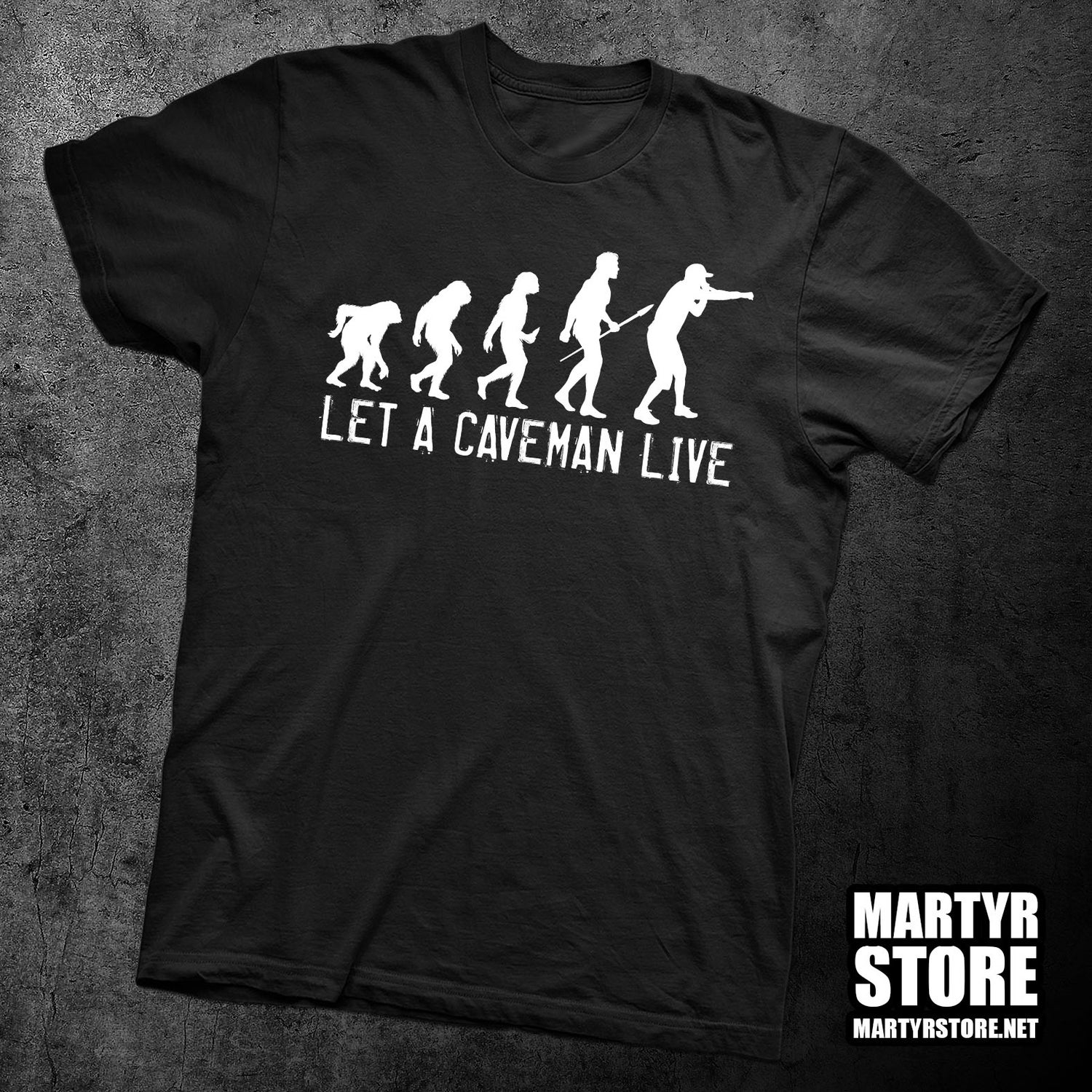 Image of LET A CAVEMAN LIVE T-SHIRT