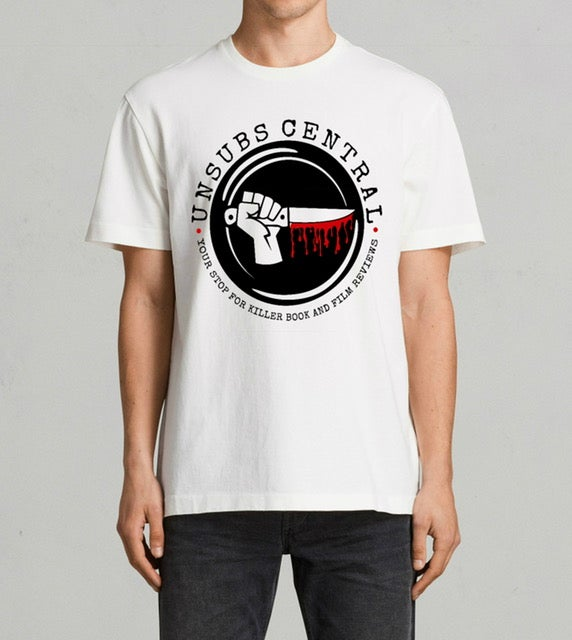 Image of Unsubs Central Bloody Knife Logo shirt - Men's