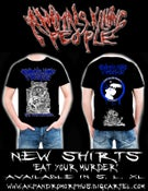 """Image of """"Eat Your Murder"""" Raccoon - Blue Logo (very limited quantity)"""