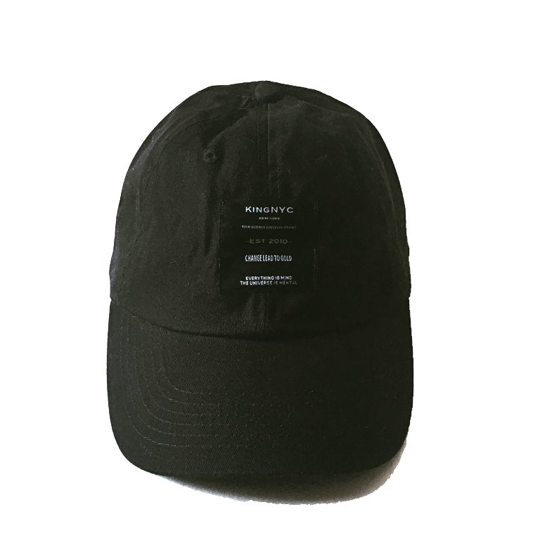 Image of KingNYC Lead II Gold Black Label Dad Hat